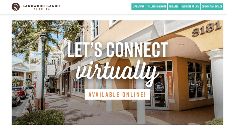 Example 1 - Lakewood Ranch's updated marketing efforts