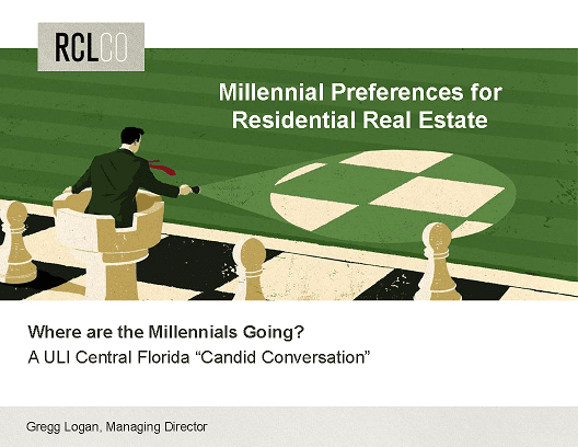 Milennial Preferences for Residential Real Estate